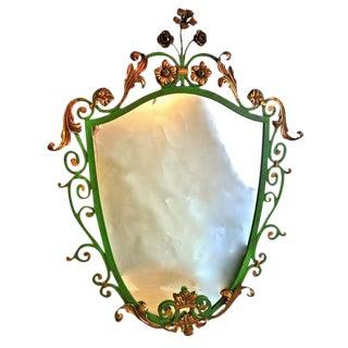 Italianate Iron/Gilt Mirror For Sale