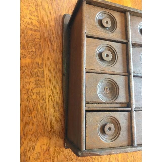 Antique Rustic Spice Box - Image 6 of 8