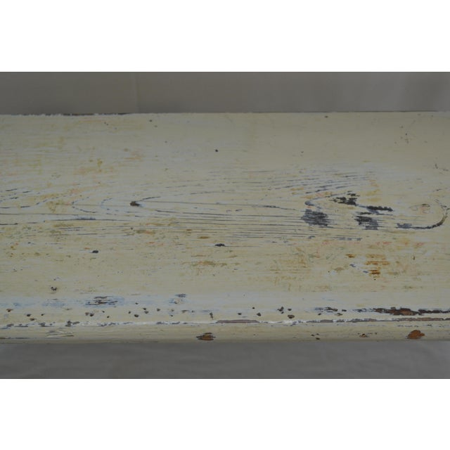 White 1880s Painted Pine Kitchen Shelf or Bucket Bench For Sale - Image 8 of 10
