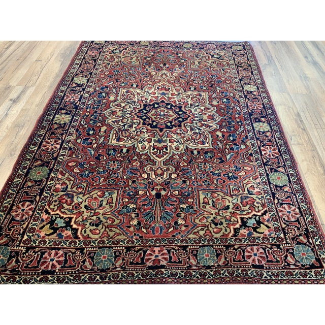 """Persian 1930s Antique Persian Sarouk Rug- 3'3"""" X 4'10"""" For Sale - Image 3 of 10"""