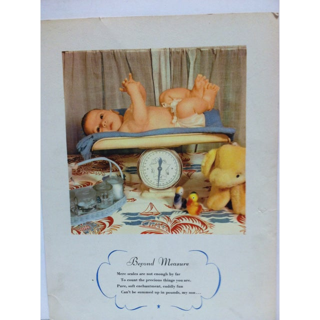 """This is a vintage color print on paper that is titled """"Beyond Measure"""". The print dates from around 1940 and is ready for..."""