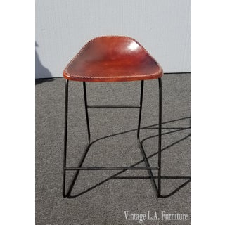 Spanish Style Red Leather Seat Stool Barstool Preview