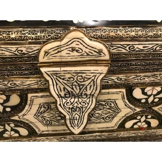 Moorish Black and White Bone and Brass Inlaid Antique Chest Preview