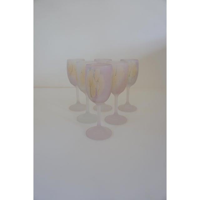 Rueven Watercolor Wine Glasses - Set of 6 For Sale In Washington DC - Image 6 of 6