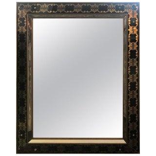 Hollywood Regency Style Églomisé Rectangular Wall / Console Mirror For Sale
