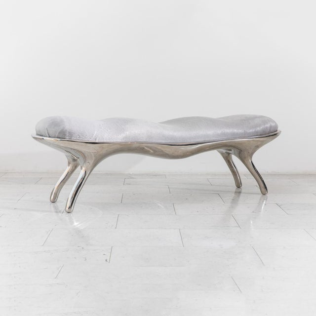 Metal Biche Bench, Usa, 2019 For Sale - Image 7 of 10