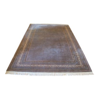 Handknotted Wool Saraband Sarouk Rug - 8′4″ × 12′2″ For Sale