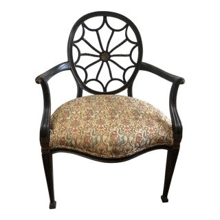 Pair of Vintage Detailed Spider Back Chairs For Sale