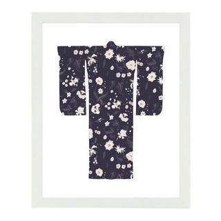"""Kimono-Currant White"" Framed Wall Art"