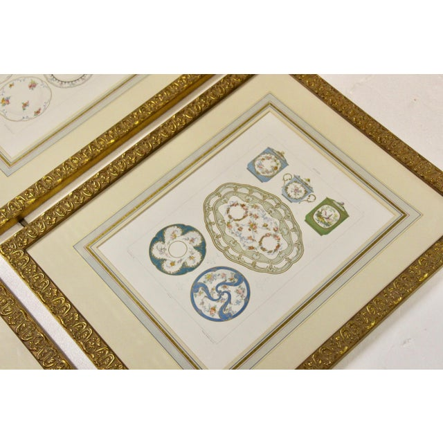 Lovely set of four framed original chromolithograph plates from Edouard Garnier's The Soft Porcelain of Sevres, published...