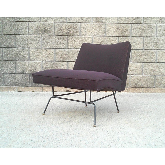 Baughman-Style Mid-Century Iron Frame Slipper Chair - Image 4 of 7