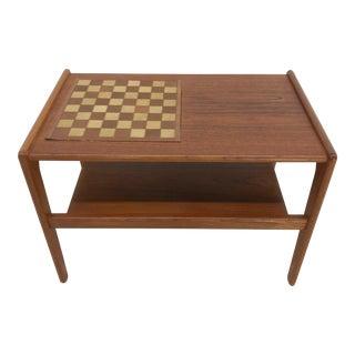Mid-Century Modern Danish Teak Salin Nyborg Game Table For Sale