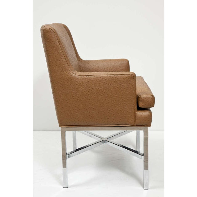 Milo Baughman Attributed Armchairs - Set of 4 For Sale In New York - Image 6 of 8