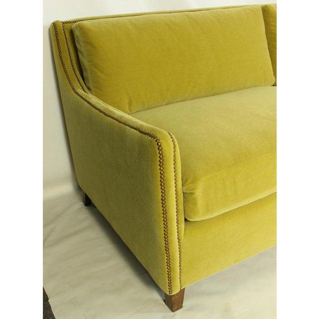 Green Custom Made Deep Seated Sofa For Sale - Image 8 of 11