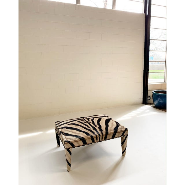 Louis XVI Forsyth Zebra Hide Parsons Style Ottoman For Sale - Image 3 of 11