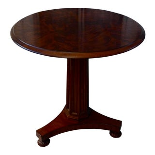 Antique Hickory Chair Company Mahogany Round Pedestal Table For Sale