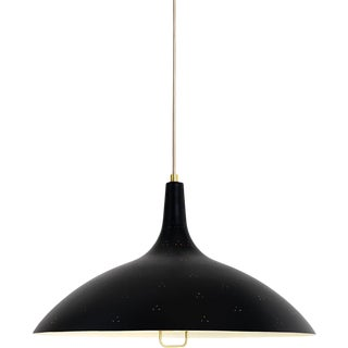 Paavo Tynell '1965' Pendant Lamp in Black For Sale
