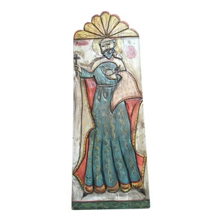 St. Francis of Assisi Spanish Mission Sculptural Wall Plaque For Sale