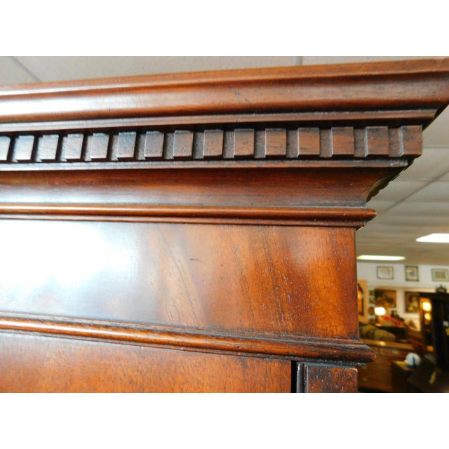 Baker Mahogany Collector's Edition Bookcase Secretary For Sale In Atlanta - Image 6 of 11