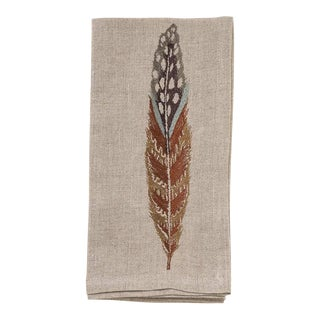 Fowl Feather Dinner Napkin For Sale