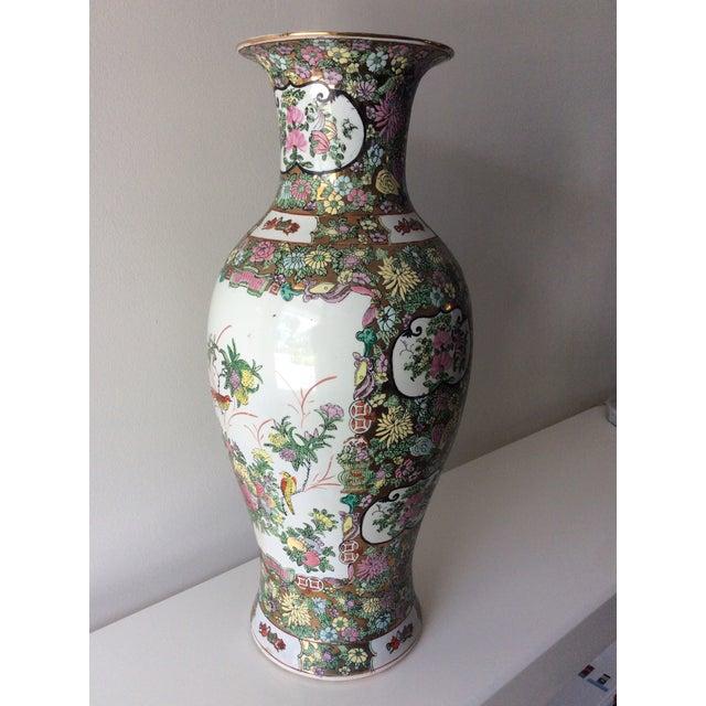 Famille Rose Medallion Style Porcelain Vase For Sale - Image 9 of 11