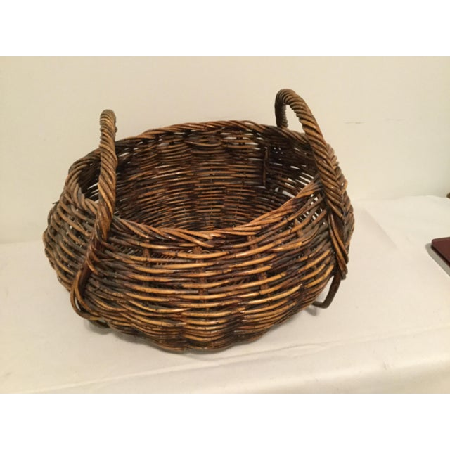 American Brown Decorative Basket For Sale - Image 3 of 8