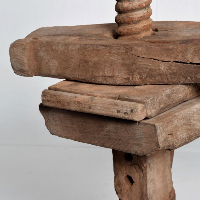 Antique Spanish Colonial Decorative Woodworking Mezquite Table For Sale - Image 9 of 11