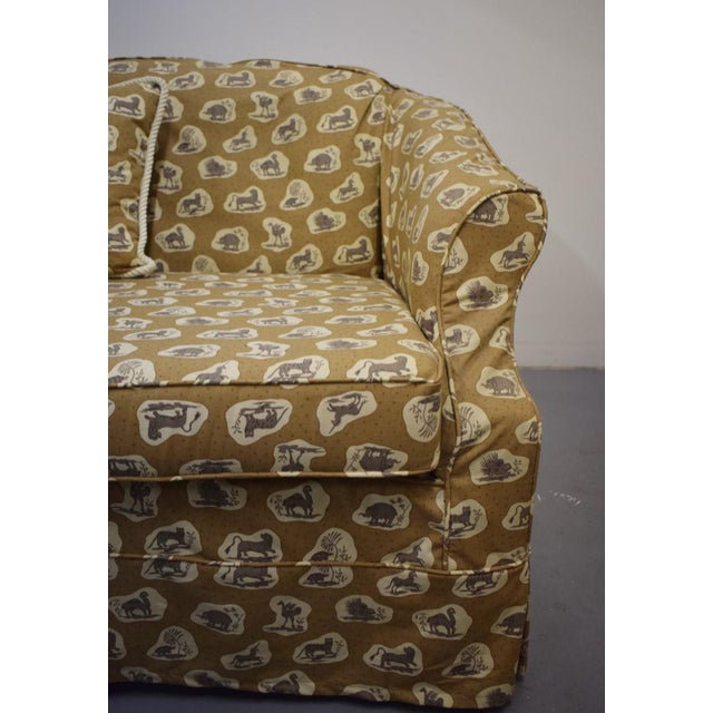 Cowtan & Tout Safari Upholstered Sofa w Pillow - Image 5 of 9