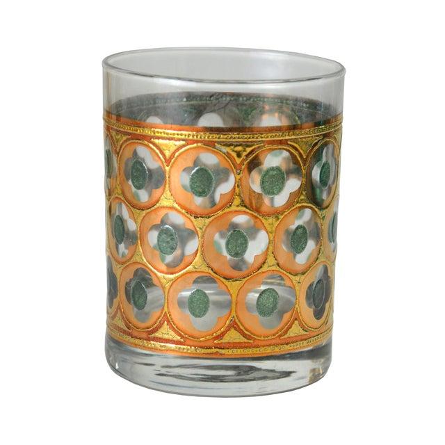 Vintage Green & Gold Cocktail Glasses - 4 - Image 2 of 4