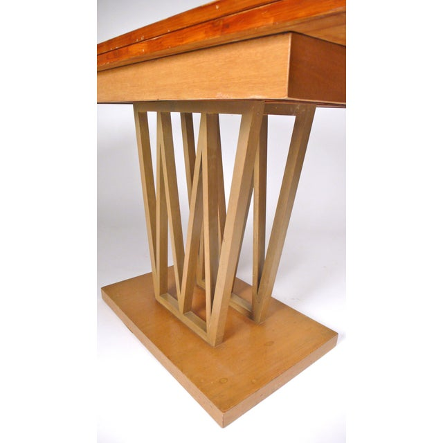 Brown Custom Console Table For Sale - Image 8 of 10