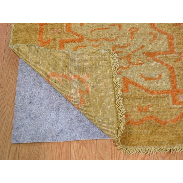 """Early 20th Century Antique Turkish Oushak Oriental Rug - 10'2"""" X 13'6"""" For Sale - Image 5 of 13"""