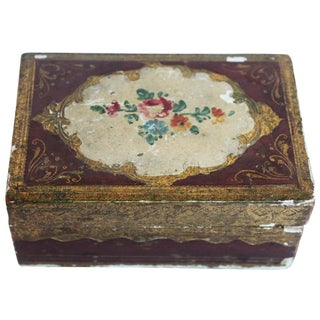 Small Italian Wood Box For Sale