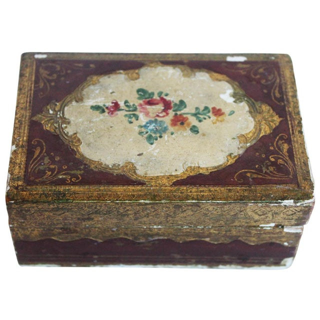 Small Italian Wood Box For Sale