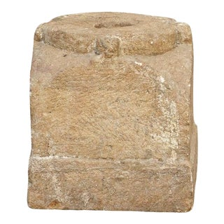 Attractive 19th Century Hewn Stone Plyth For Sale