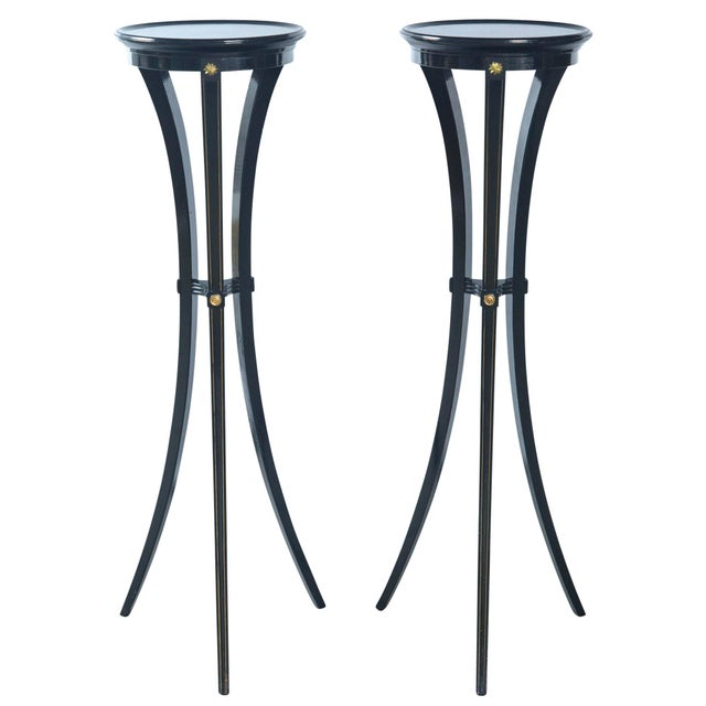 Black Torchere Plant Stands - a Pair For Sale - Image 9 of 9