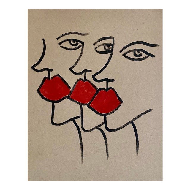 Abstract Ladies Marker Drawing For Sale