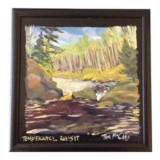 "Vintage Forest ""Temperance Revisit"" Painting by Tom McCann For Sale"