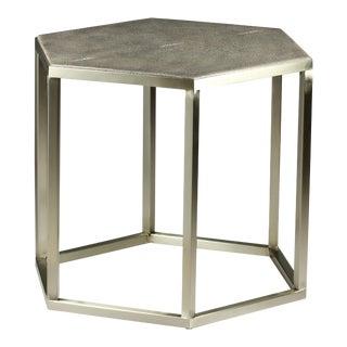 "Sarreid Ltd. ""Mallen"" Leather Top Cocktail Table For Sale"