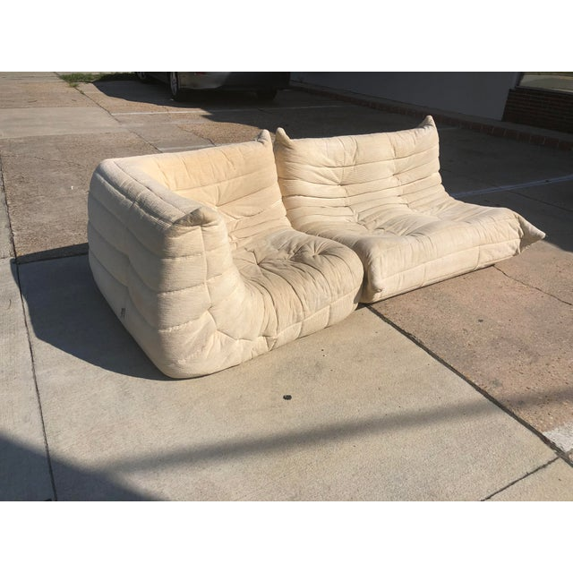 Mid-Century Modern 1970s Mid-Century Modern Ligne Roset Togo French Sectional Sofas - 2 Pieces For Sale - Image 3 of 13