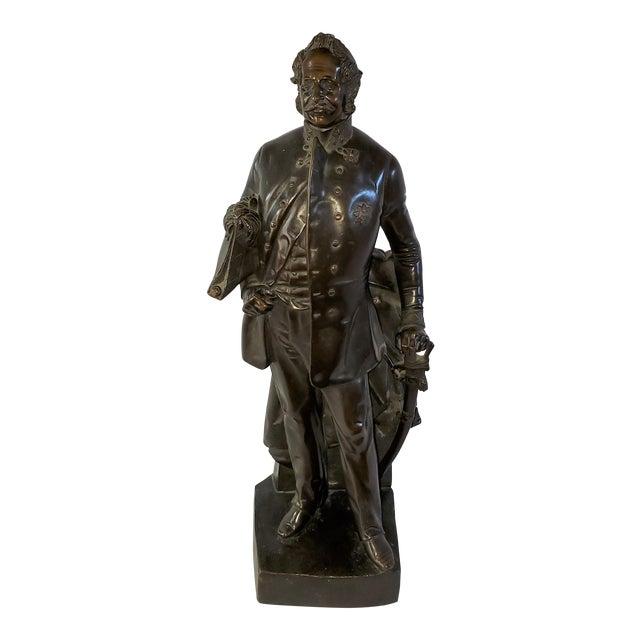 Franz Hogler, German Sculptor, Bronze Statue, Signed 1851 For Sale