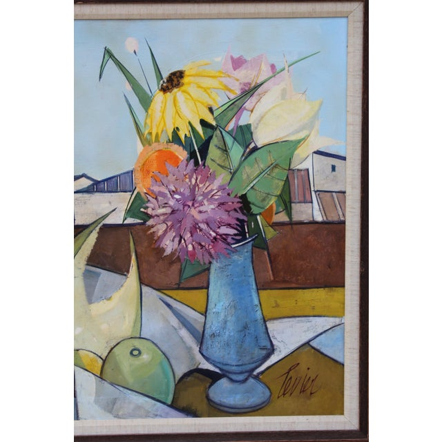 Oil on Canvas Artwork by French Artist Charles Levier For Sale In New York - Image 6 of 11