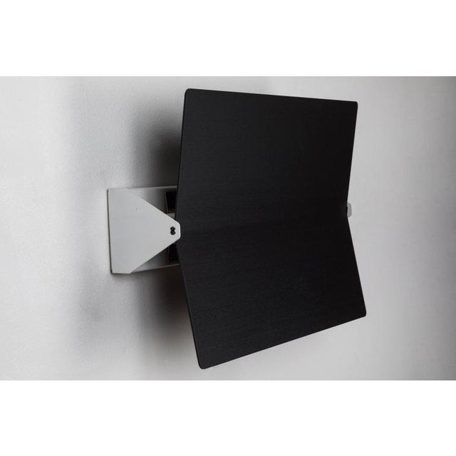 Mid-Century Modern Large Charlotte Perriand 'Applique à Volet Pivotant Plié' Wall Light in Black For Sale - Image 3 of 8