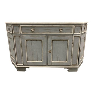18th C Tuscan Painted Walnut Sideboard Buffet For Sale