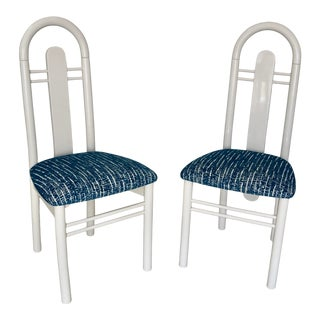 Postmodern Italian Art Deco Dining Chairs - a Pair For Sale