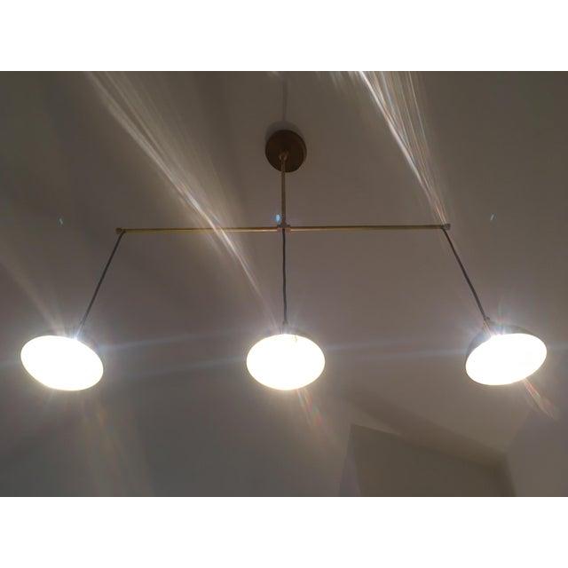 Brass 3-Light Pendant Light For Sale - Image 4 of 11