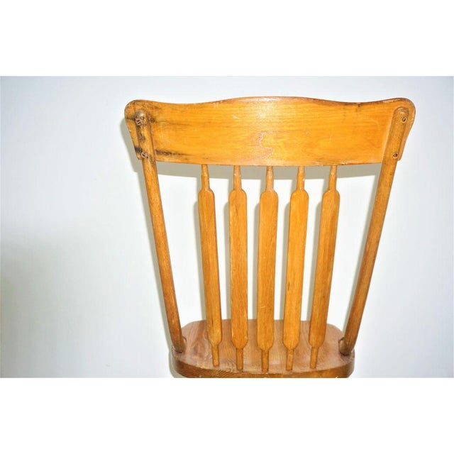 Vintage Wood Rocking Chair - Image 3 of 8