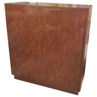 Exquisite Parquetry Cabinet in the Jean-Michel Frank Manner For Sale