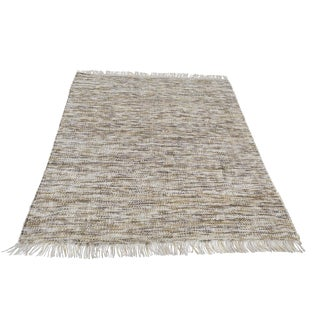 Handmade Wool Berber Gold Gray and Ivory Rug - 8′2″ × 10′ For Sale