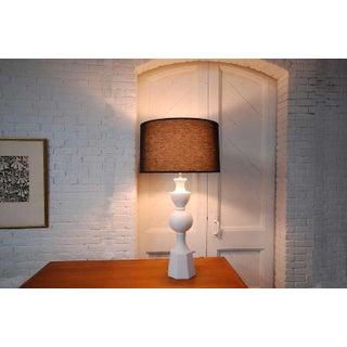 Monumental Balustrade-Form Plaster Table Lamp Preview