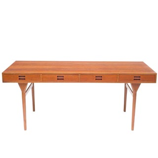 Nanna Ditzel & Jorgen Ditzel Teak Desk With Four Drawers, Denmark, 1952 For Sale